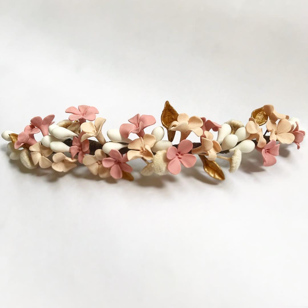 tocado de novia porcelana